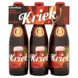 Carrefour Kriek Bière aux Cerises Bouteille 6 x 25 cl