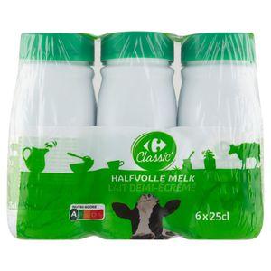 Carrefour Lait Demi-Écrémé 6 x 25 cl