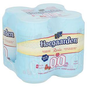 Hoegaarden Rosée 0.0% Alc Canettes 4 x 33 cl