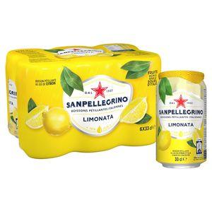 SANPELLEGRINO® Limonata Bruisende Vruchtendrank Blikje 6 x 0.33 L