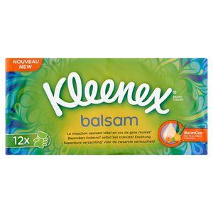 Kleenex Balsam Zakdoeken 4-Laags 12 Stuks