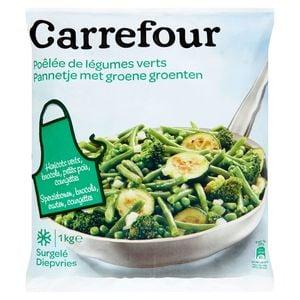 Carrefour Poêlée de Légumes Verts 1 kg