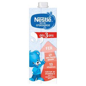 Nestlé® Lait de Croissance 3+ Liquide Bébé dès 3 Ans 1 L