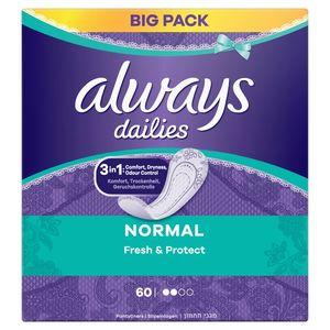 Always Dailies Normal Fresh & Protect Inlegkruisjes x60