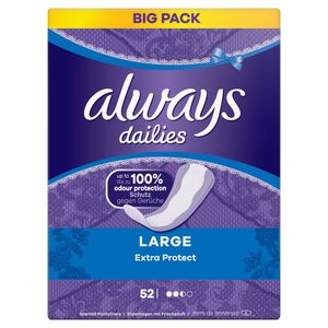 Always Dailies Large Extra Protect Inlegkruisjes x52