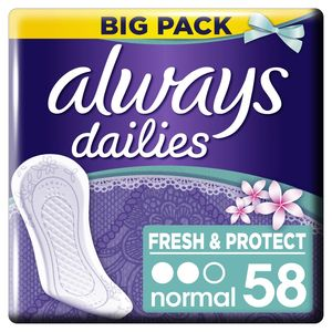 Always Dailies Normal Fresh & Protect Inlegkruisjes  x58