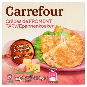 Carrefour Tarwepannenkoeken Ham Kaas 6 x 50 g