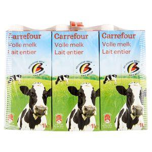 Carrefour Lait Entier 6 x 1 L