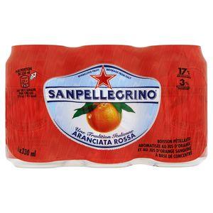 SANPELLEGRINO® Arianciata Rossa Bruisende Vruchten Blikje 6 x 0.33 L