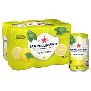 SANPELLEGRINO® Pompelmo Bruisende Vruchtendrank Blikje 6 x 33 cl