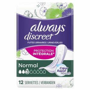 Always Discreet Normal Verband Voor Urineverlies x12