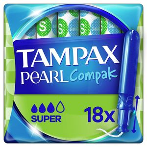 Tampax Pearl Compak Super Tampons Met Inbrenghuls x18