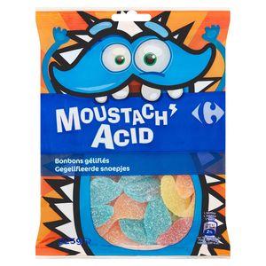 Carrefour Moustach Acid Bonbons Gélifiés 225 g