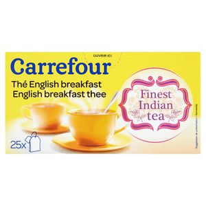 Carrefour Thé English Breakfast 25 Sachets 50 g