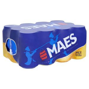 Maes Blond bier Pïls 5.2% ALC Blik 12x33cl