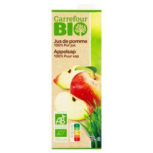 Carrefour Bio Jus de Pomme 100% Pur Jus 1 L