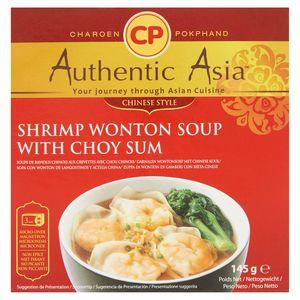Authentic Asia Soupe de Raviolis Chinois aux Crevettes avec Chou Chinois 145 g