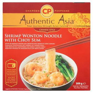 Authentic Asia Garnalen Wontonsoep met Noedels en Chinese Kool 309 g
