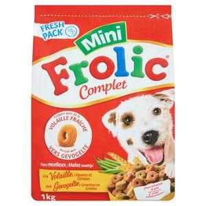 Hondenvoeding  Frolic Complet Droge Voeding met Gevogelte, Groenten en Granen 1kg
