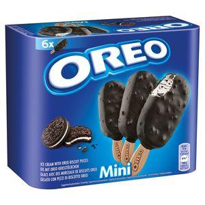 Oreo Glace avec des Morceaux de Biscuits Oreo Mini 6 Pièces 300 ml