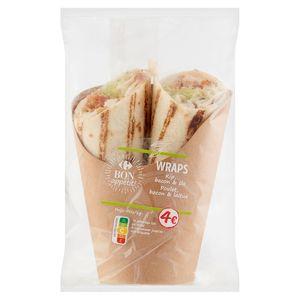 Carrefour Lunch Time Wraps Blt Bacon, Laitue & Tomates 210 g
