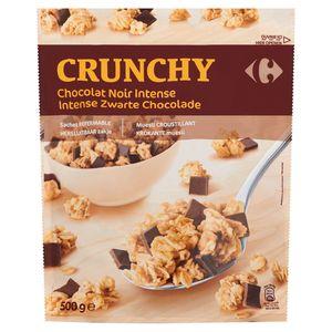 Carrefour Crunchy Intense Zwarte Chocolade 500 g