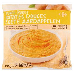 Carrefour Purée Patates Douces 750 g