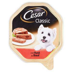 Aliment Chien Cesar Classic Barquette au Bœuf 150 g
