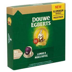 DOUWE EGBERTS Koffie Capsules Moka Royal Lungo Intensiteit 8 20 stuks