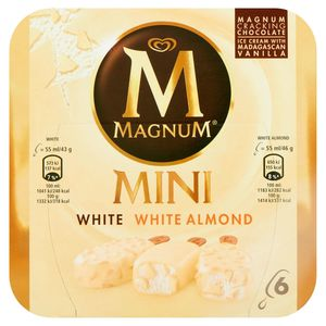 Magnum Ola Multipack Ijs Mini White - Almond White 6 x 55 ml