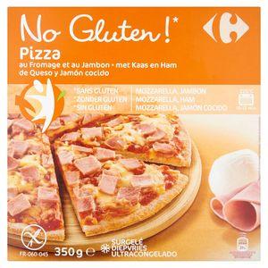 Carrefour No Gluten! Pizza met Kaas en Ham 350 g