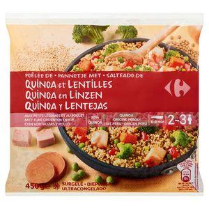 Carrefour Poêlée de Quinoa et Lentilles 450 g