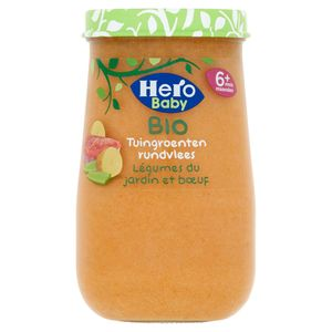 Hero Baby Bio Tuingroenten Rundvlees 6+ Maanden 190 g