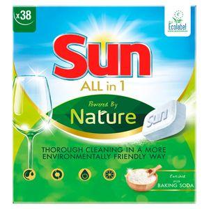 Sun Tout en 1 Tablette Lave-Vaisselle Ecolabel 38 Tablettes