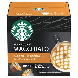 STARBUCKS Caramel Macchiato by NESCAFE DOLCE GUSTO Doos met 6+6 Capsules, 127.8 g
