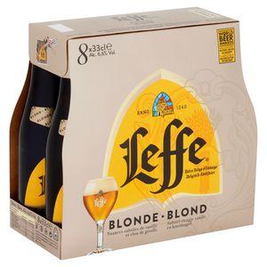 Leffe Belgisch Abdijbier Blond Flessen 8 x 33 cl
