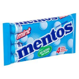 Mentos Chewy Dragees Mint Rouleaux 4 x 37.5 g