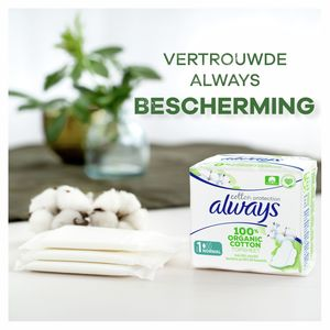 Always Cotton Protection M1 Maandverband Met Vleugels 12 Stuks