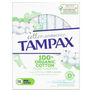 Tampax Cotton Protection Super Tampons Inbrenghuls x16