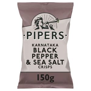 Pipers Chips Black Pepper & Sea Salt 150 gr