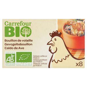 Carrefour Bio Bouillon de Volaille 8 x 10 g
