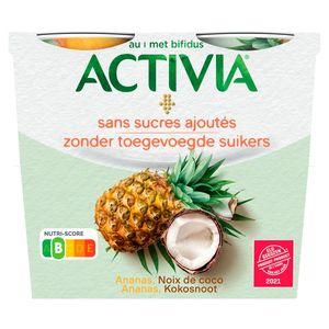 Activia au Bifidus Ananas, Noix de Coco 4 x 115 g