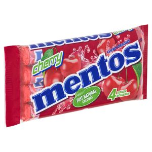 Mentos Chewy Dragees Cherry Rollen 4 x 37.5 g