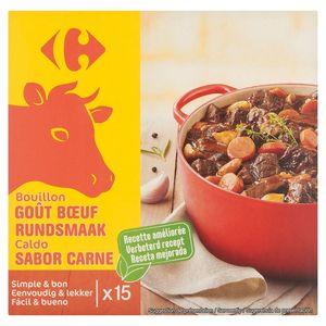 Carrefour Bouillon Goût Bœuf 15 x 10 g