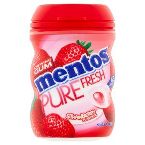 Mentos Chewing Gum Strawberry Flavour Sugar Free 12 Stuks 24 g