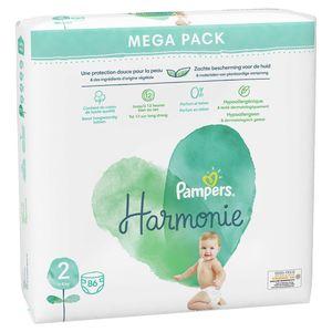 Pampers Harmonie Maat 2, 86 Luiers, 4kg-8kg
