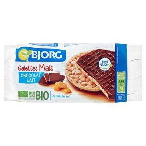 Bjorg Galettes Maïs Chocolat Lait Bio 100 g