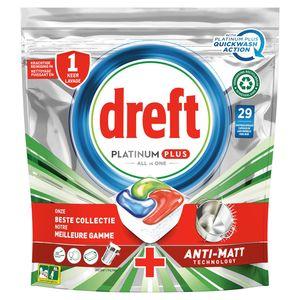 Dreft Platinum Plus All In One Cool Blue Lave-Vaisselle, 29Capsules